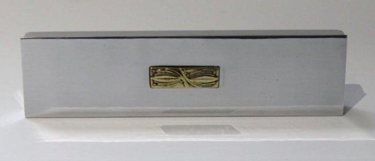 Art Deco Aluminum Box by Kensington For Sale 7