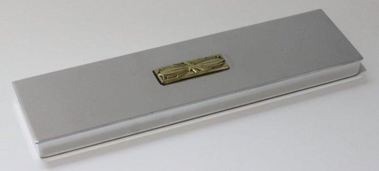 American Art Deco Aluminum Box by Kensington For Sale