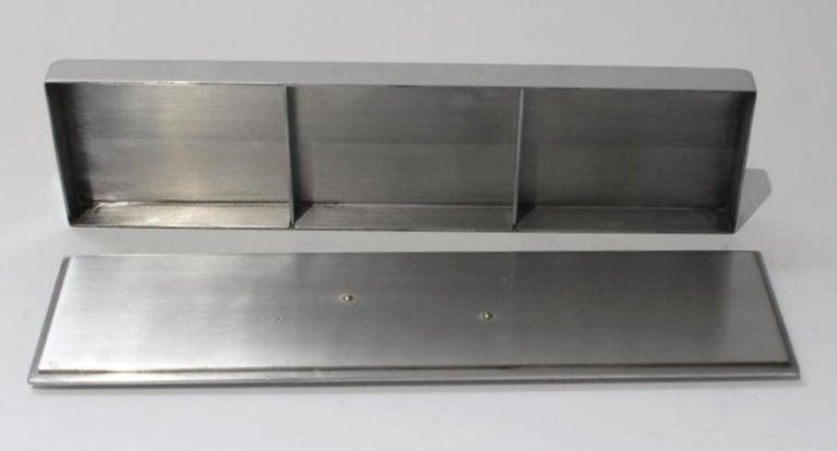 Polished Art Deco Aluminum Box by Kensington For Sale