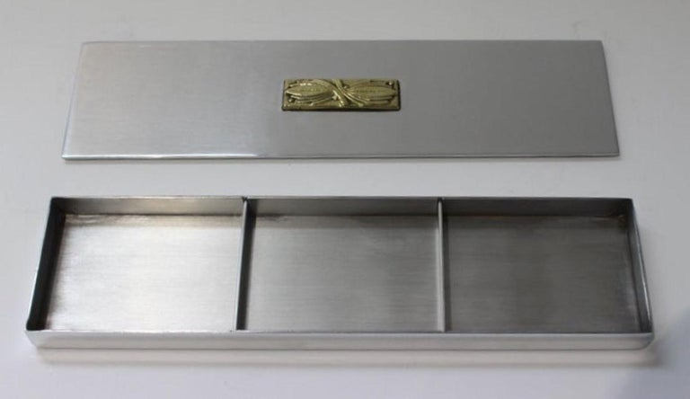 Art Deco Aluminum Box by Kensington In Good Condition For Sale In West Palm Beach, FL