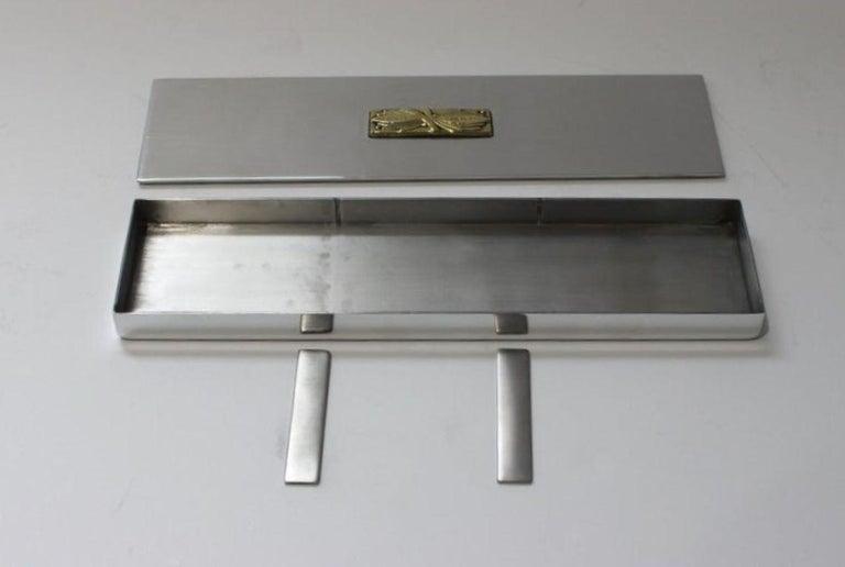 20th Century Art Deco Aluminum Box by Kensington For Sale