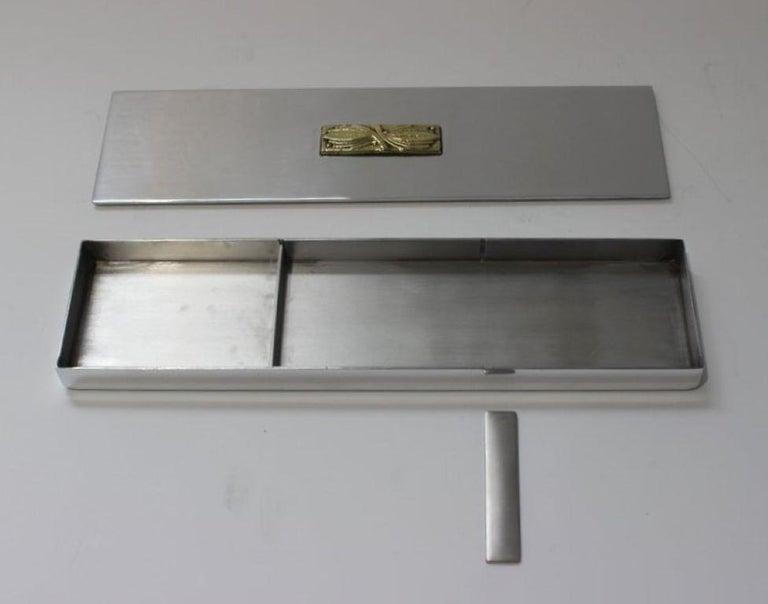 Art Deco Aluminum Box by Kensington For Sale 1