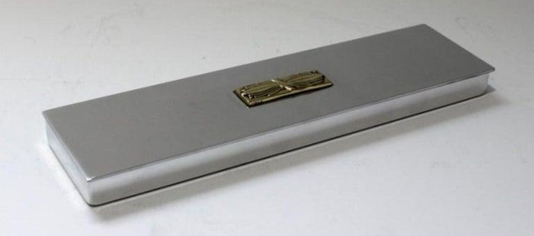 Art Deco Aluminum Box by Kensington For Sale 3