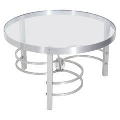 Art Deco Aluminum Coffee Table, circa 1930s