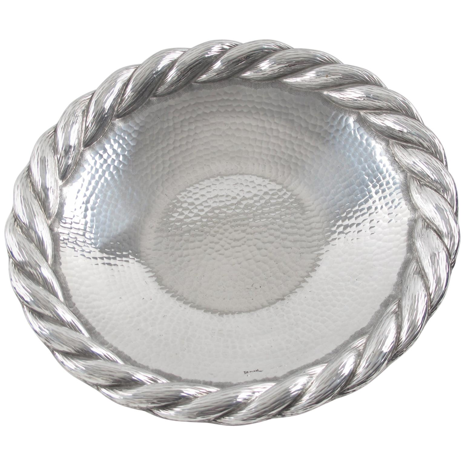 Art Deco Aluminum Platter Barware Tray by Irman France