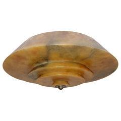 Art Deco Amber Alabaster Light Fixture