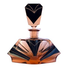 Art Deco Amber Colored 1930s Glass Perfume Scent Bottle