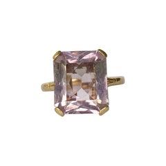 Art Deco Amethyst 9 Carat Gold Cocktail Ring