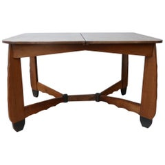 Art Deco Amsterdam School Extendable Dining Table