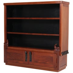 Art Deco Amsterdam School Mahogany Bookcase by Willem Raedecker, 1920s