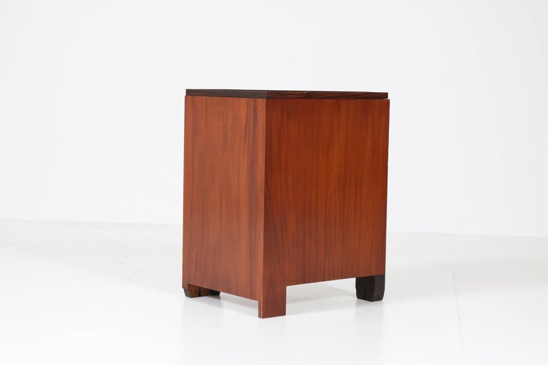 Art Deco Amsterdam School Nightstands by Max Coini, 1920s For Sale 10