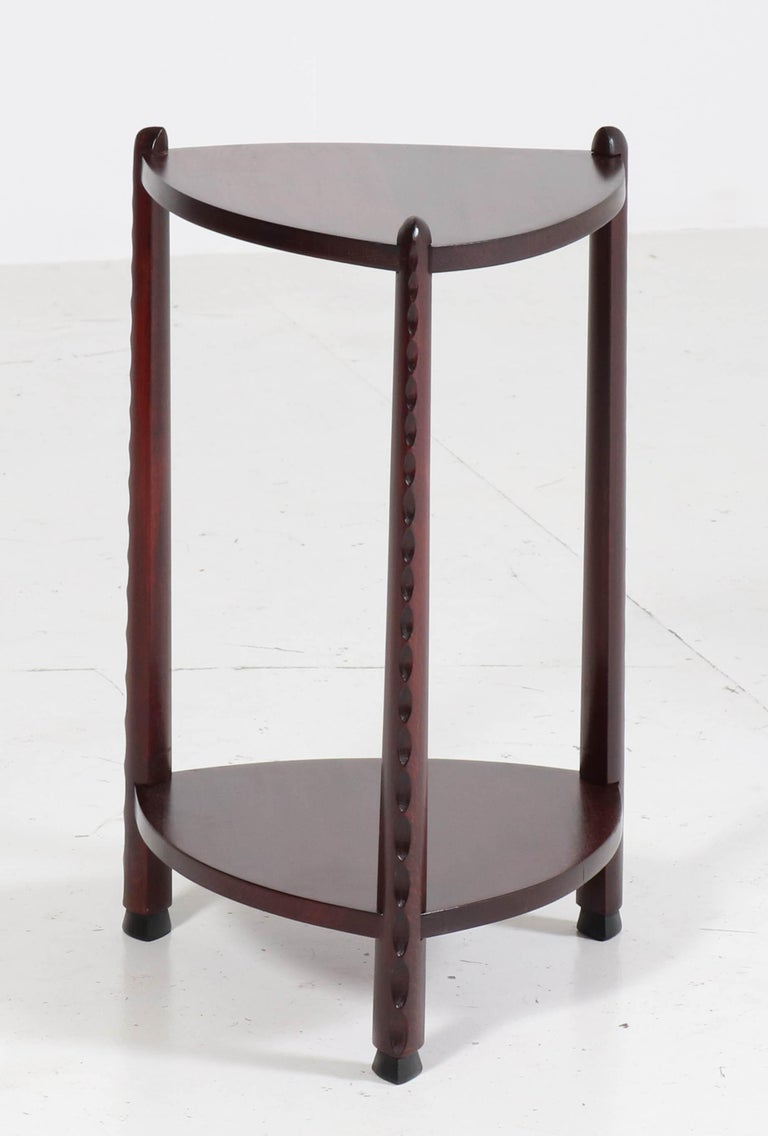 Magnificent and very rare Art Deco Amsterdam School side table.