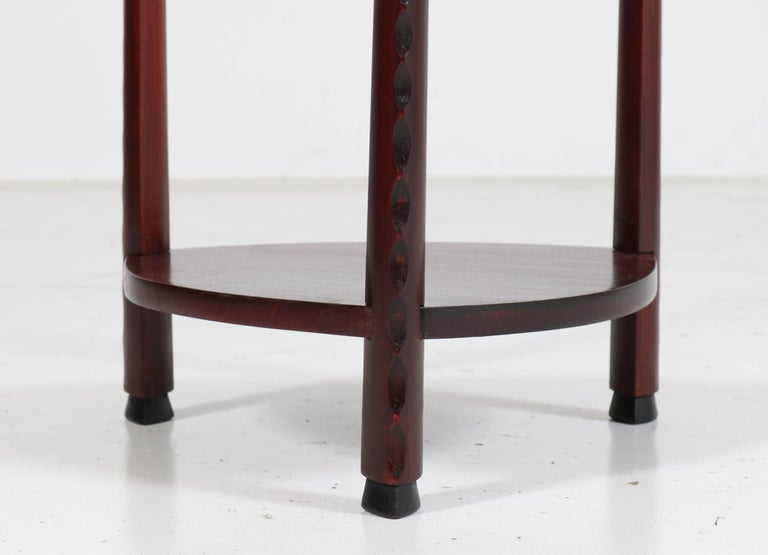 Art Deco Amsterdam School Stained Beech Side Table Attributed to Piet Kramer For Sale 1