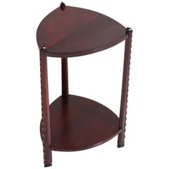 Art Deco Amsterdam School Stained Beech Side Table Attributed to Piet Kramer