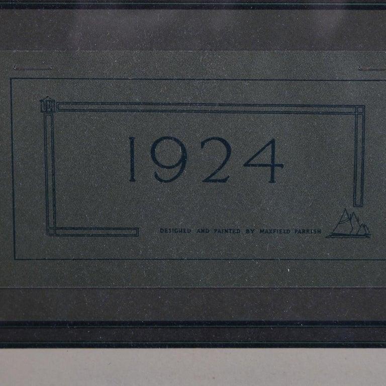 American Art Deco Antique 1924 Maxfield Parrish the Venetian Lamplighter Full Calendar For Sale