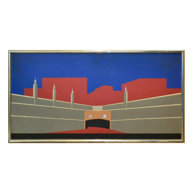Art Deco Architectural Panel of the Lincoln Tunnel in New York City For Sale