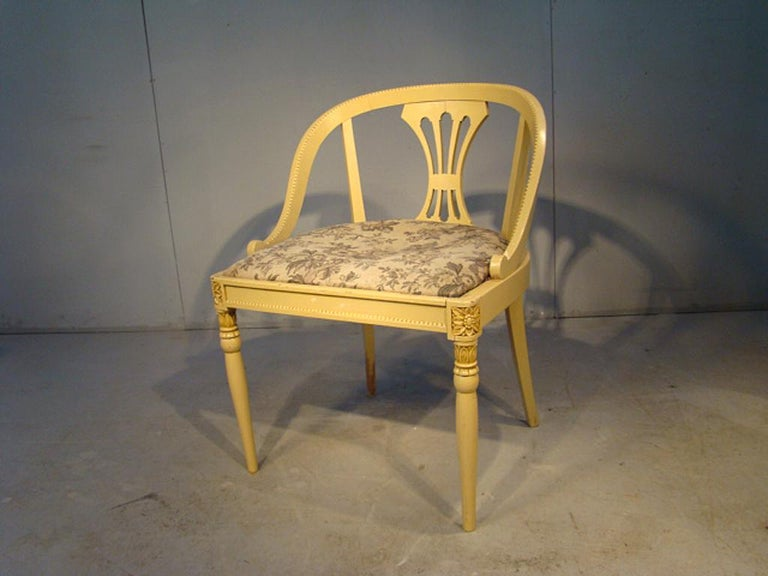 European Art Deco Armchair in Lacquered Wood, circa 1920-1930 For Sale