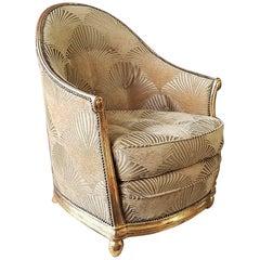 Art Deco Armchair, Style Paul Follot, Sue et Mare, France, 1920