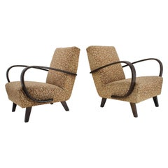 Art Deco Armchairs by Jindrich Halabala, Set of Two, 1940s