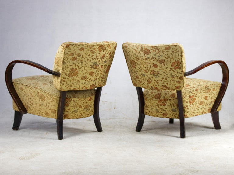 Art Deco Armchairs H 237 by Jindrich Halabala, 1930s In Good Condition For Sale In Lucenec, SK