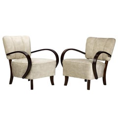 Art Deco Armchairs H 237 by Jindrich Halabala, 1930s