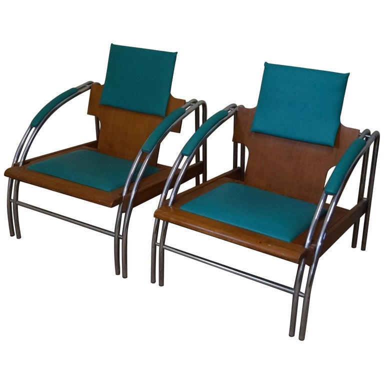 Art Deco Armchairs J. Halabala from 1960 For Sale at 1stdibs