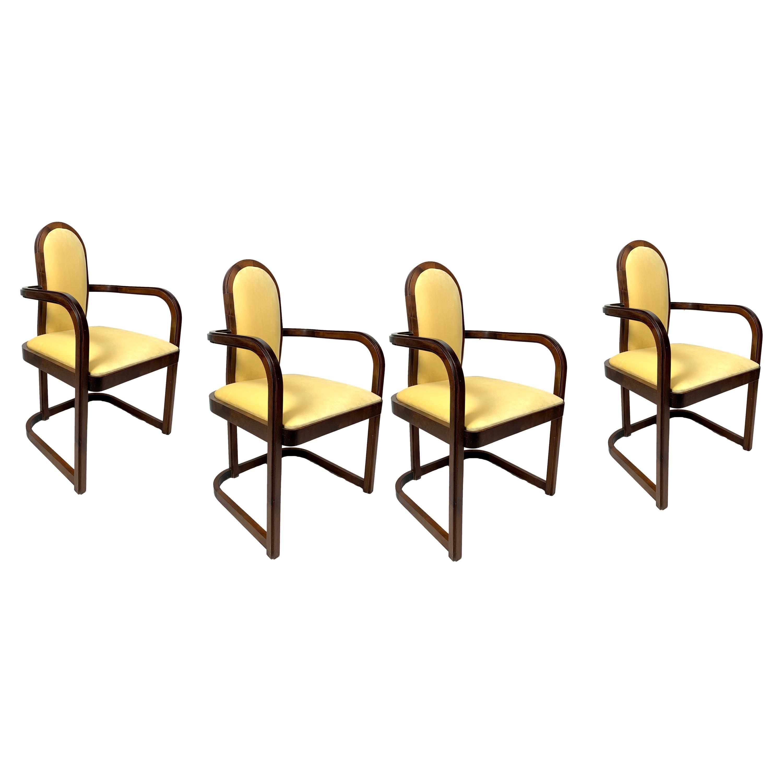 Art Deco Armchairs, Set of 4, 1930s