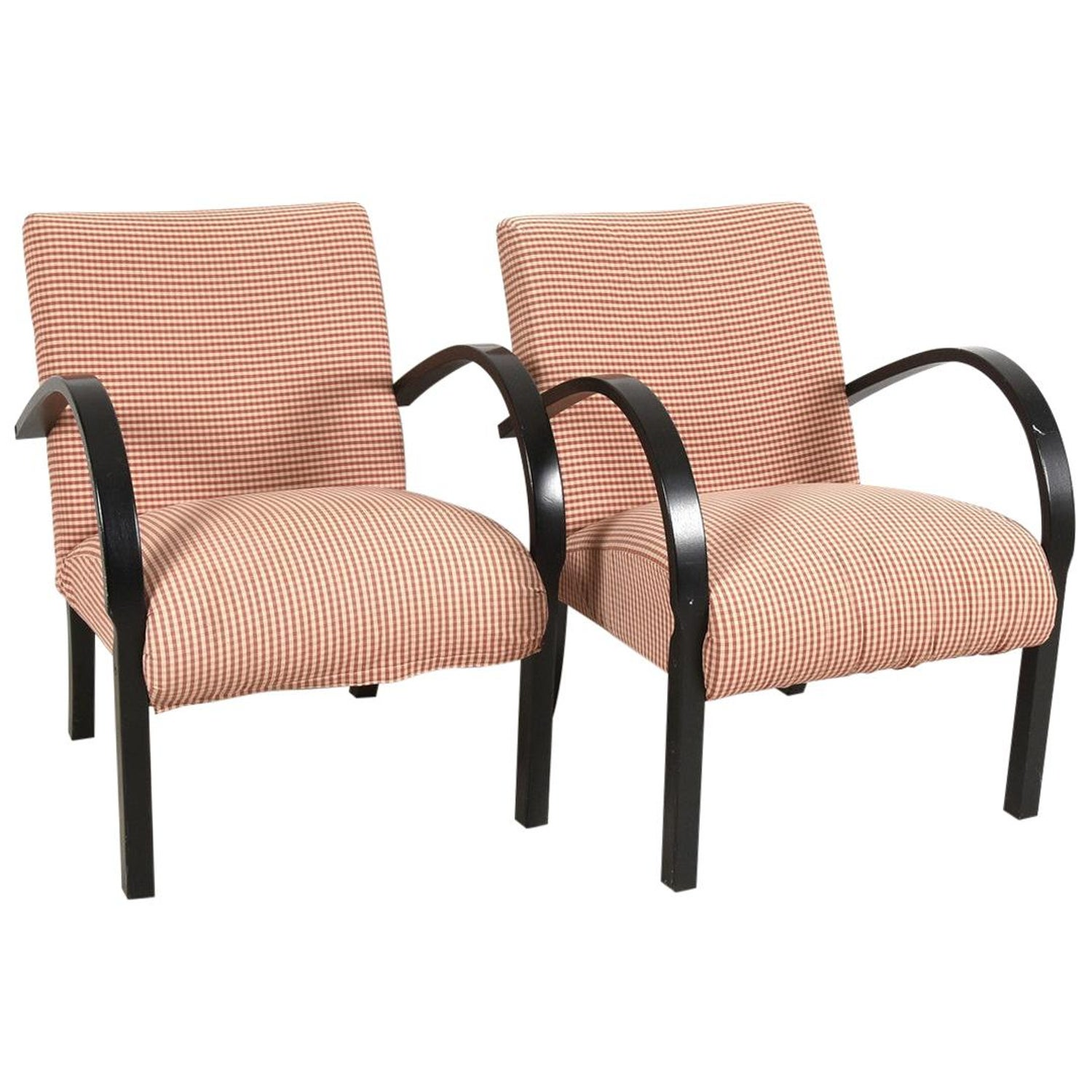 Art Deco Armchairs Swedish Open Bentwood Arms Early 20th Century ...
