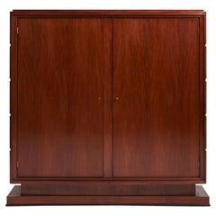 Art Deco Armoire 'or Bookcase' by Jean Rousseau & Pierre Lardin