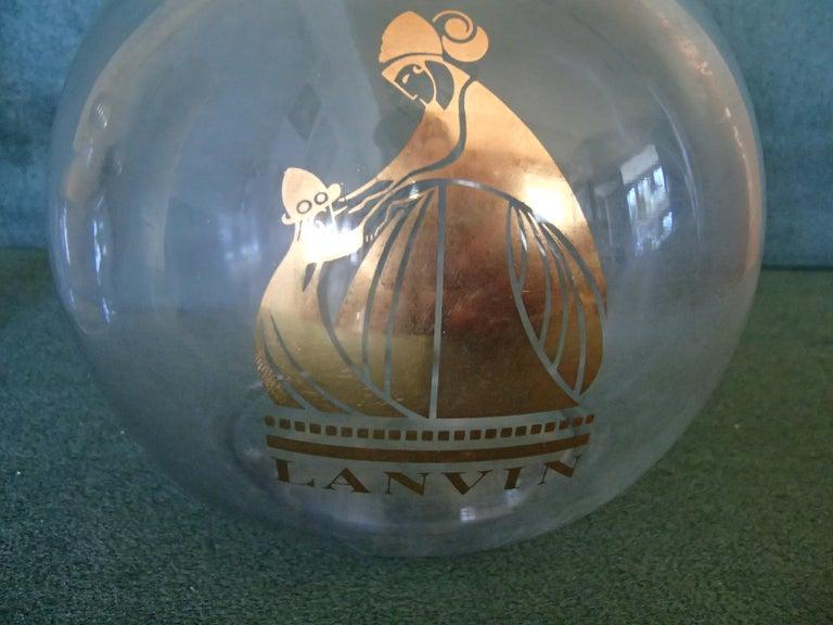 Art Deco Arpege by Lanvin empty perfume bottles.