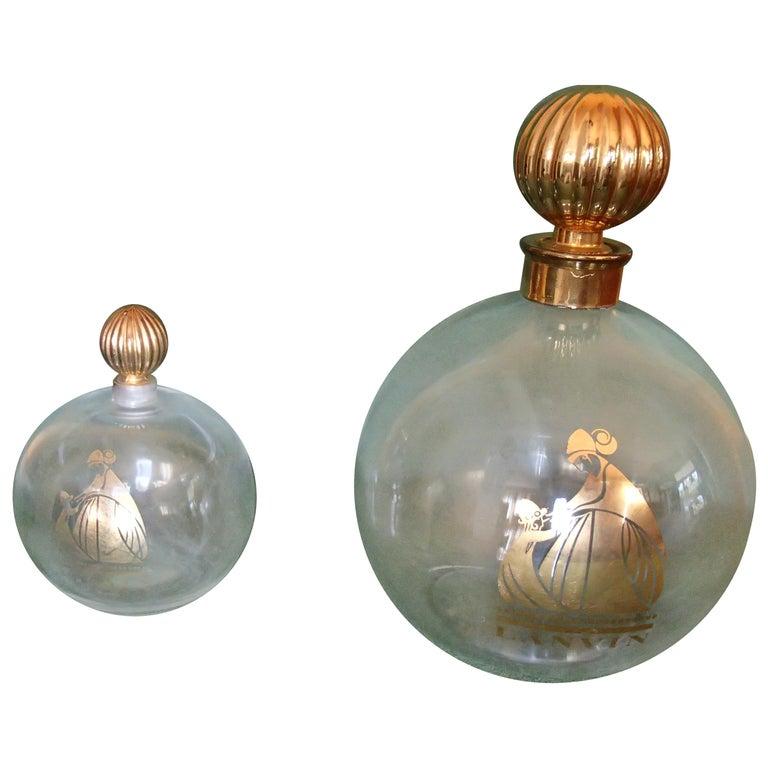 Art Deco Arpege by Lanvin Empty Perfum Bottles For Sale