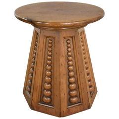 Art Deco Art Nouveau Arts & Craft Conical Side Table Round Top Octagon Base