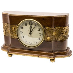 "Art Deco ""ATO"" Carved and Gilt Clock, circa 1930"