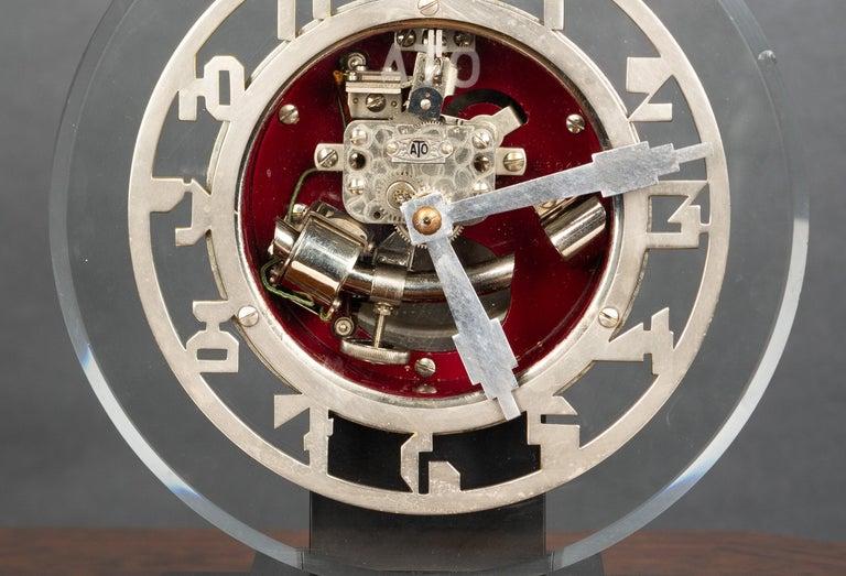 French Art Deco ATO Mantel Clock For Sale