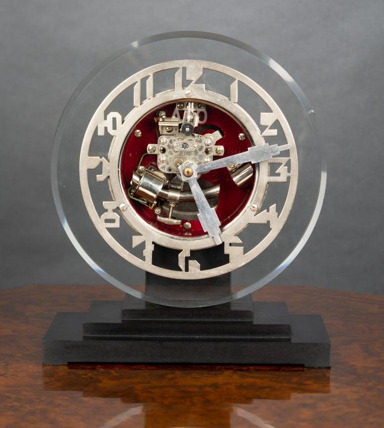 Art Deco ATO Mantel Clock In Good Condition For Sale In Norwich, GB