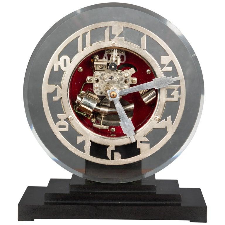 Art Deco ATO Mantel Clock For Sale