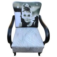 Art Deco Audrey Hepburn Art Deco Armchair, circa 1920s