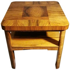 Art Deco Austrian Coffee-Tea Table Made with Different Types of Walnut