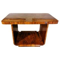 Art Deco' Austrian Walnut Briar Table