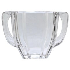Art Deco Baccarat Twin-Handled Glass or Crystal Vase