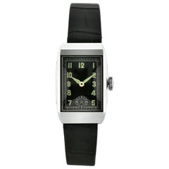 Art Deco Back Dial Gents Wristwatch Old Stock, Never Worn, Newly Serviced, 1930
