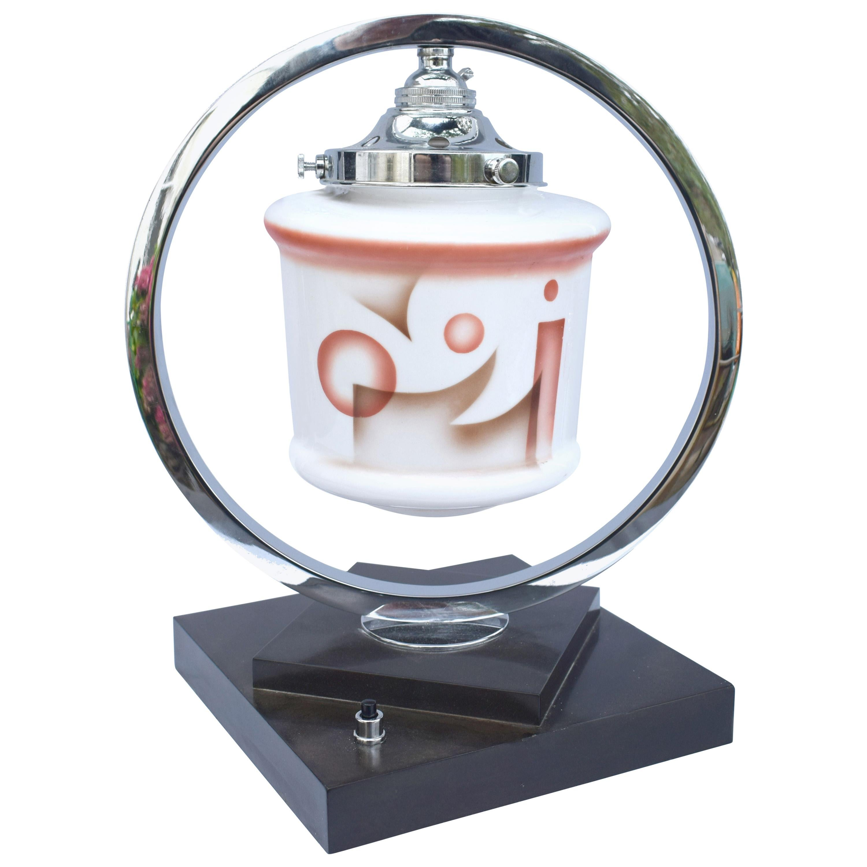 Art Deco Bakelite and Chrome Table Lamp, circa 1930