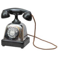 Art Deco Bakelite and Chrome Telephone