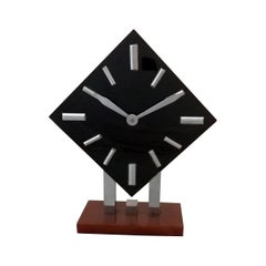 Art Deco Bakelite and Chrome Wind-Up Alarm Clock