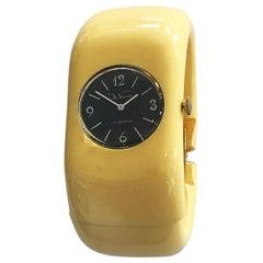 Art Deco Bakelite Clamper watch in cream bakelite by De Vecchi