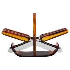 Art Deco Bakelite Fruit Knife Set from the 1930s, Solingen Made in Germany