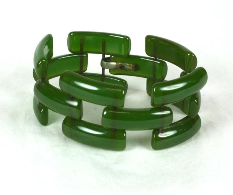 Art Deco Bakelite Link Bracelet In Excellent Condition For Sale In Riverdale, NY