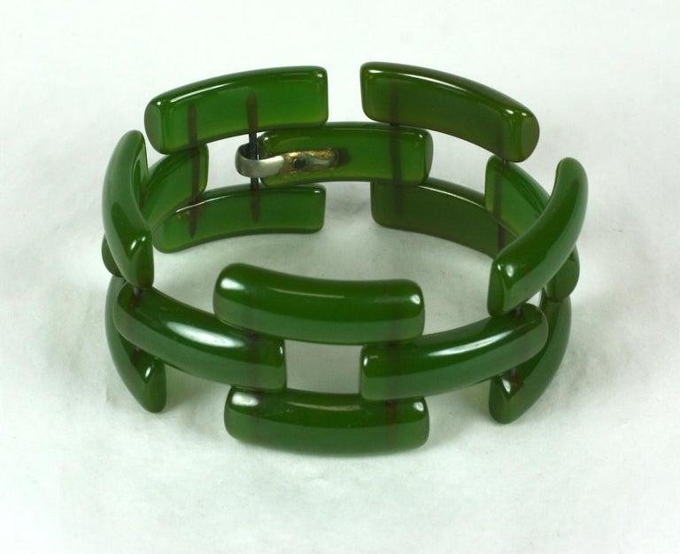 Art Deco Bakelite Link Bracelet For Sale 1