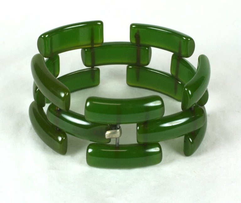 Art Deco Bakelite Link Bracelet For Sale 2