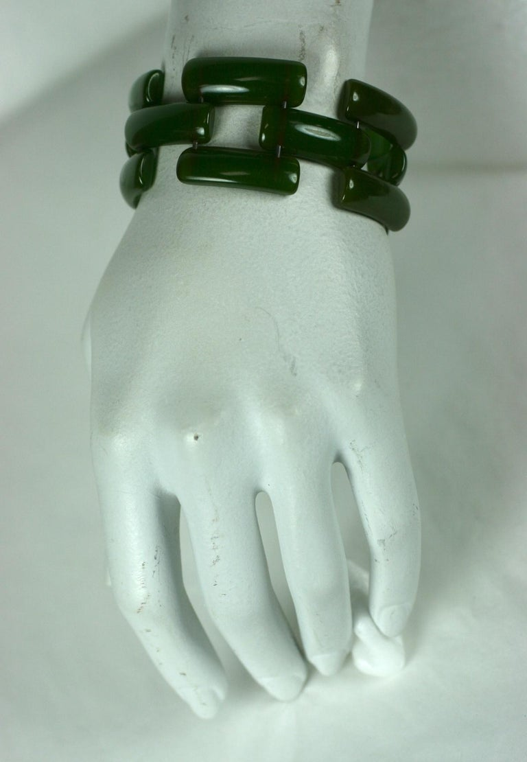 Art Deco Bakelite Link Bracelet For Sale 3
